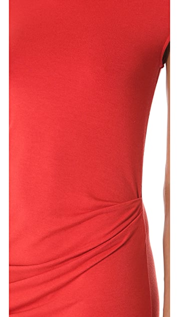 HELMUT Helmut Lang Drop Cap Sleeve Dress