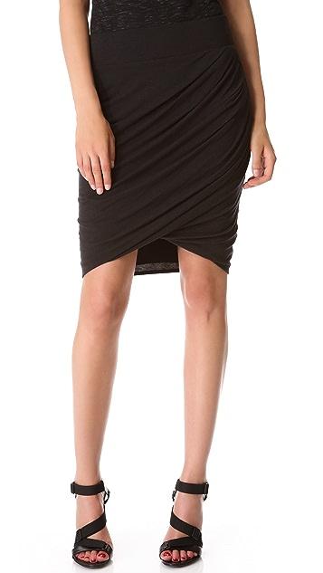 HELMUT Helmut Lang Draped Skirt