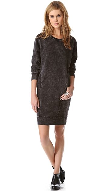 HELMUT Helmut Lang Crew Neck Sweatshirt Dress