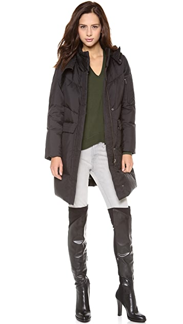 HELMUT Helmut Lang Hooded Puffer Coat