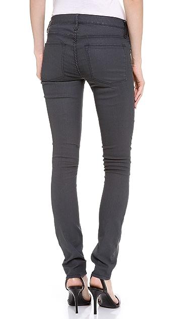 HELMUT Helmut Lang Shale Wash Coated Skinny Jeans