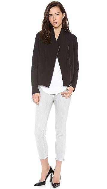 HELMUT Helmut Lang Villous Quilted Sweatshirt Jacket