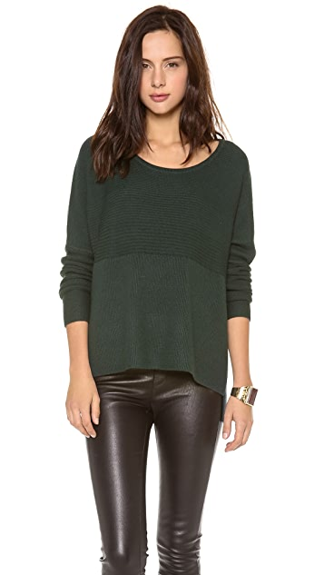 HELMUT Helmut Lang Plush Scoop Neck Sweater
