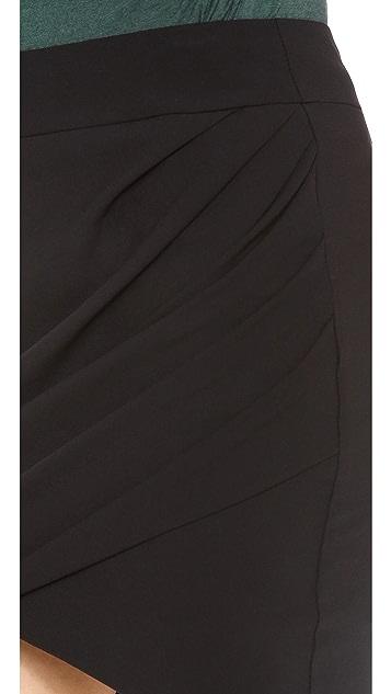 HELMUT Helmut Lang Dry Crepe Twist Skirt