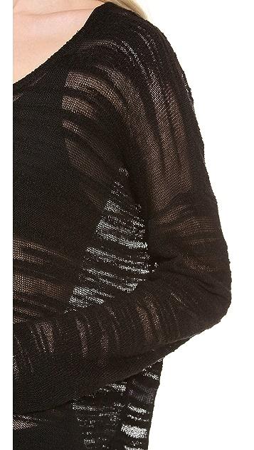HELMUT Helmut Lang Destroyed Boucle Sweater
