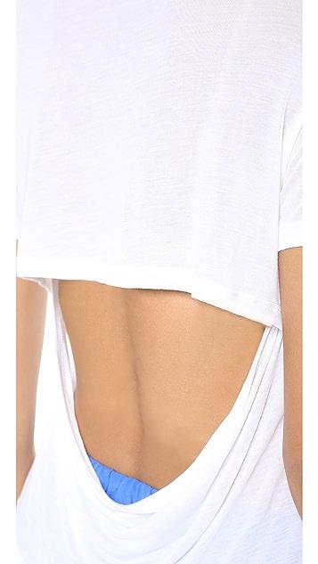 Hepburn Monroe Short Sleeve Crop Top