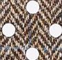 Harris Tweed/Black Polka Dots