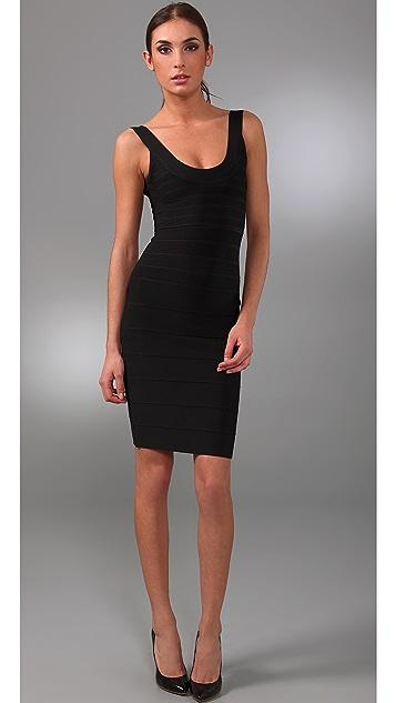 Herve Leger Signature Essentials City Bandage Dress