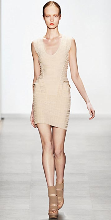 Herve Leger Velvet Geometric Dress