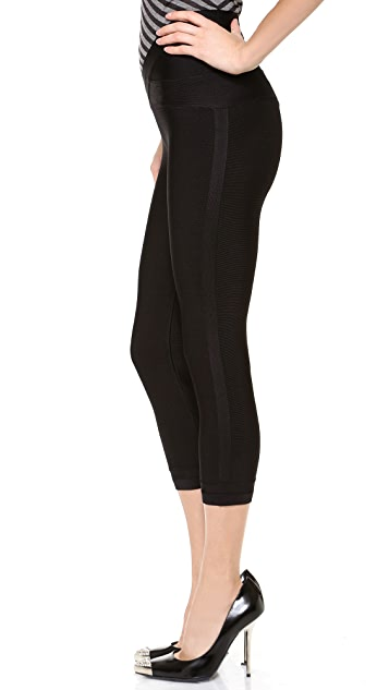 Herve Leger Cropped Leggings