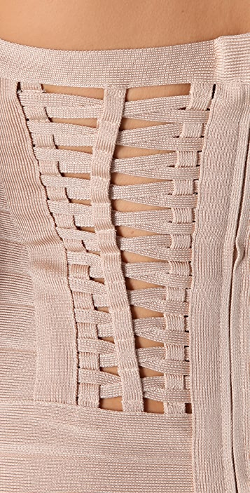 Herve Leger Signature Essentials Halter Dress