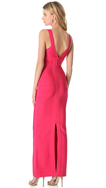 Herve Leger Karen Maxi Dress