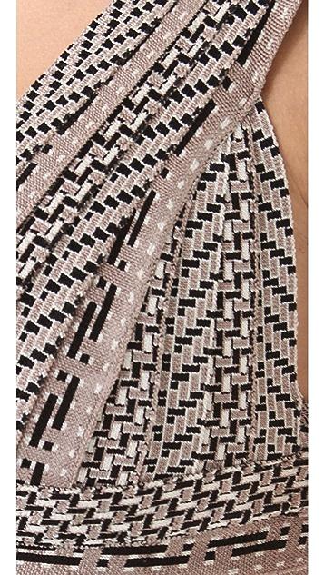 Herve Leger Sleeveless V Neck Dress