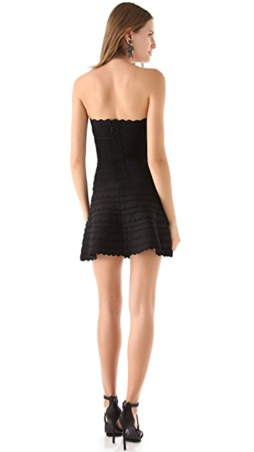 Herve Leger Scalloped A Line Dress