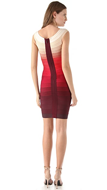 Herve Leger Above the Knee Dress