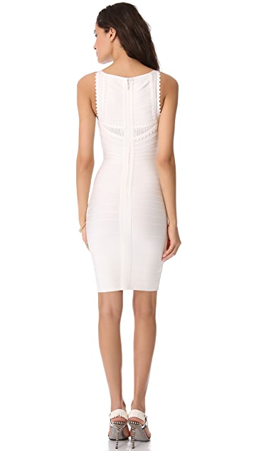 Herve Leger Brookelle Sleeveless Dress