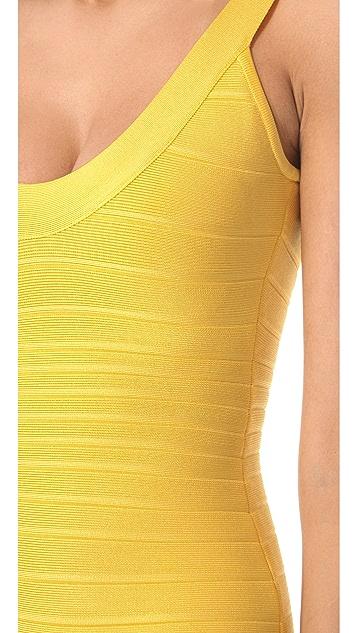 Herve Leger Sydney Scoop Neck Dress