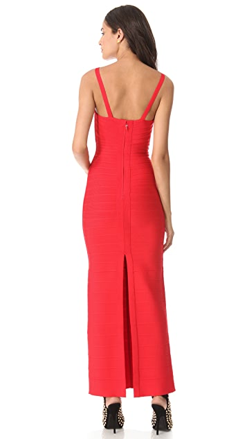 Herve Leger Lola Keyhole Gown