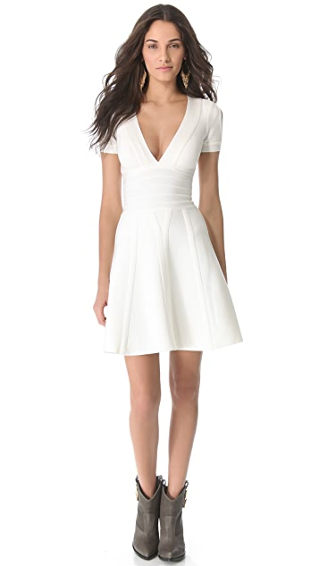 Herve Leger Kaley Short Sleeve Dress