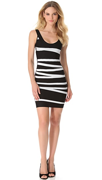 Herve Leger Danica Sleeveless Dress