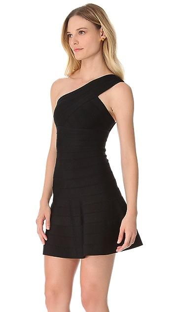 Herve Leger Sydney One Shoulder Dress
