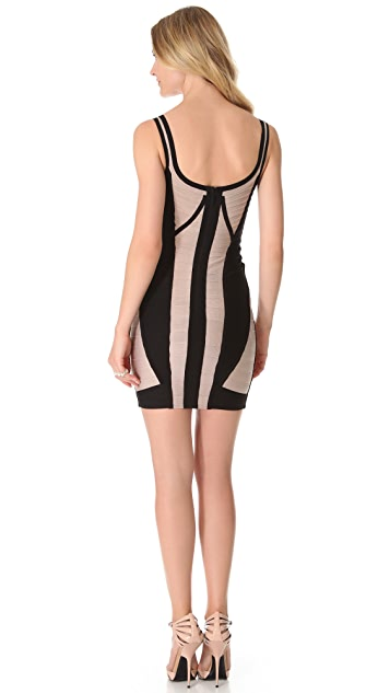 Herve Leger Karina Sleeveless Dress