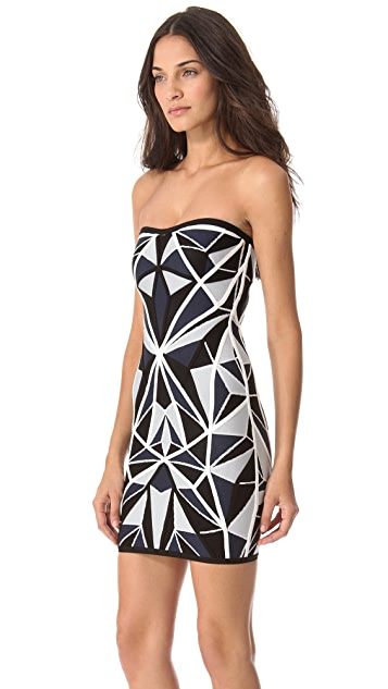 Herve Leger Jamari Strapless Dress