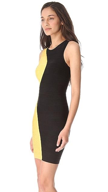 Herve Leger Pailey Combo Dress