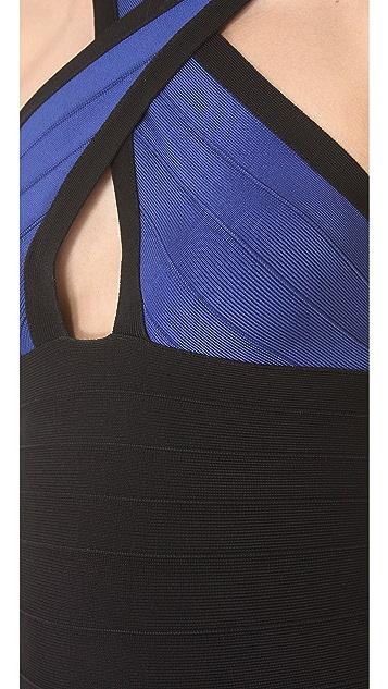 Herve Leger Addison Crossover Dress