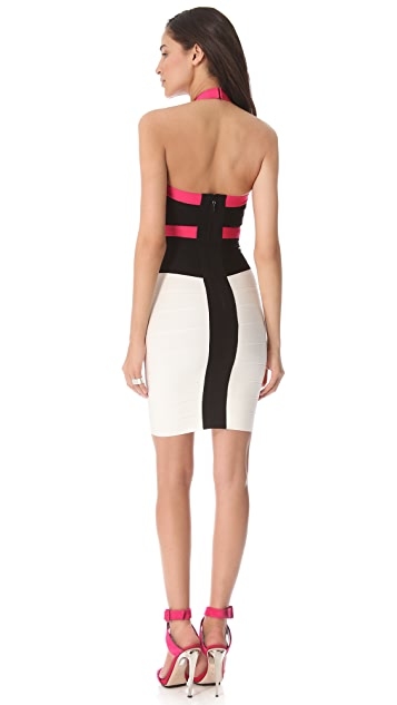 Herve Leger Andie Halter Dress