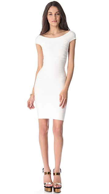 Herve Leger Marina Cocktail Dress