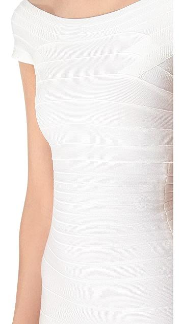 Herve Leger Marina Cocktail Dress
