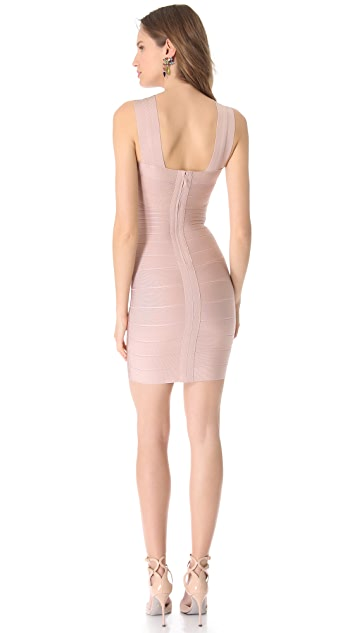 Herve Leger Stella Cross Front Dress