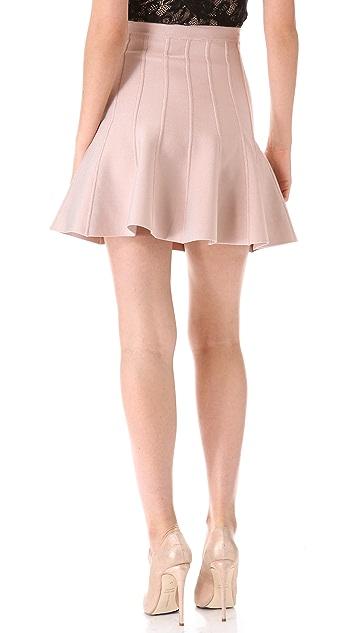 Herve Leger Sabine Flare Miniskirt