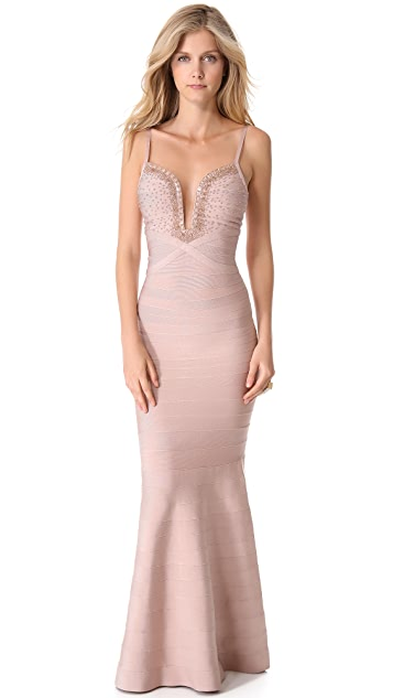 Herve Leger Priscilla Maxi Dress
