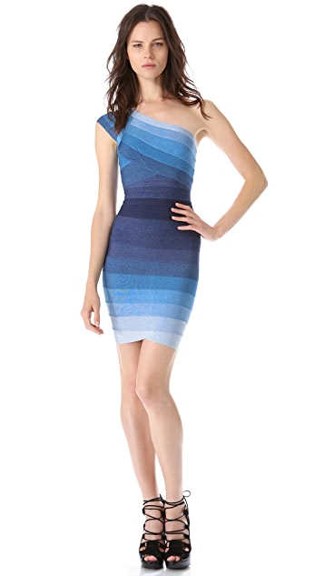 Herve Leger Anett One Shoulder Dress
