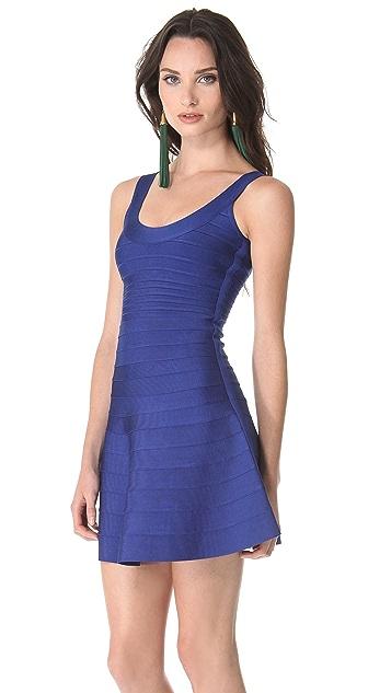 Herve Leger A Line Mini Dress