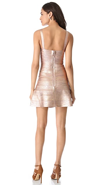 Herve Leger Faith Mini A Line Dress