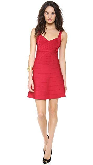 Herve Leger Jamie A Line Dress