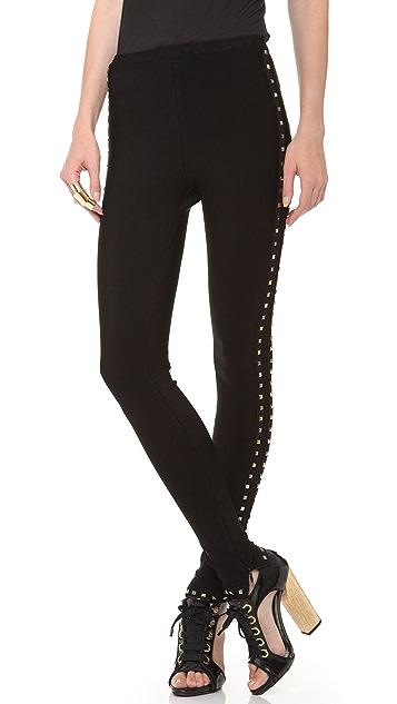 Herve Leger Studded Leggings