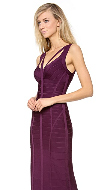 Herve Leger Sleeveless Gown