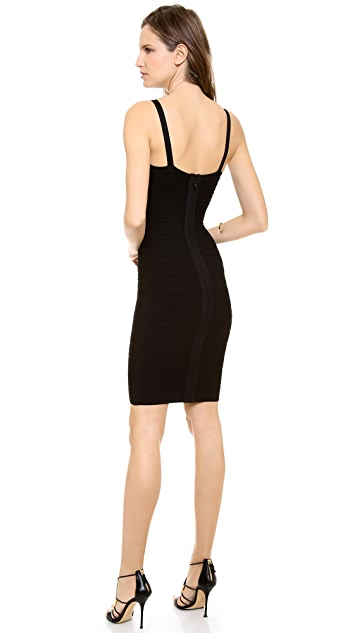 Herve Leger Shannon Keyhole Dress