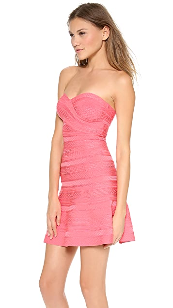 Herve Leger Akari Strapless Dress