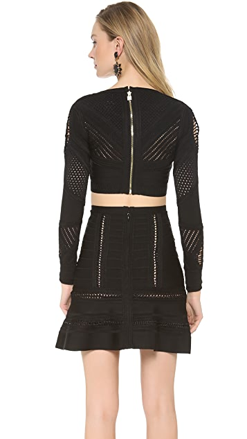Herve Leger Kristine Cropped Top