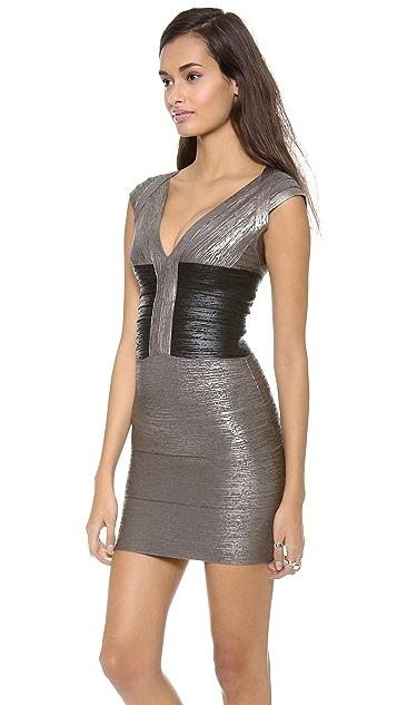 Herve Leger Melena Cocktail Dress