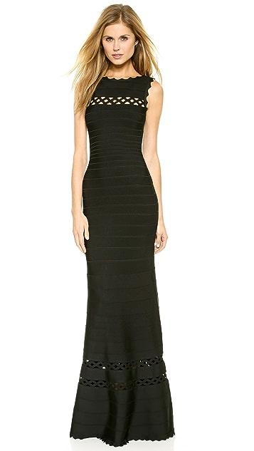 Herve Leger Sleeveless Maxi Dress