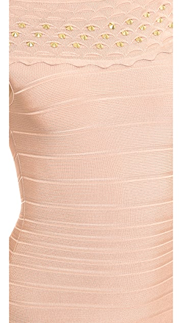 Herve Leger Studded Ardell Dress