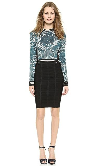 Herve Leger Sia Short Pencil Skirt