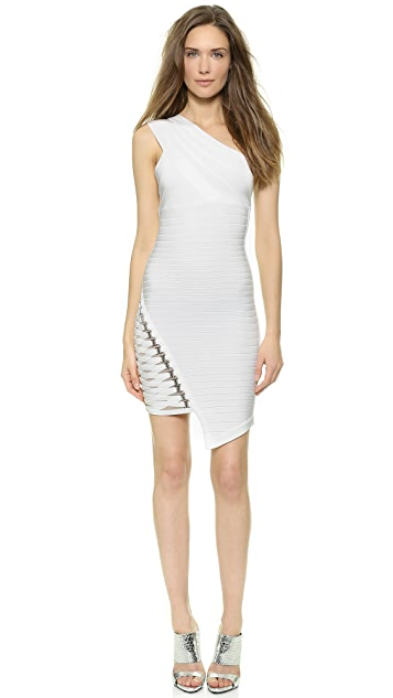 82d6fa4f9e5 Herve Leger Maran One Shoulder Dress | SHOPBOP