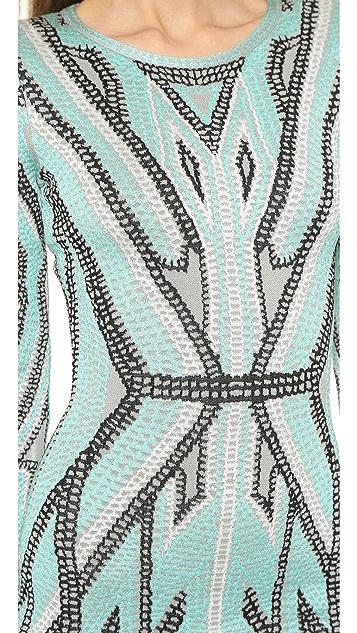 Herve Leger Agne Sheath Dress
